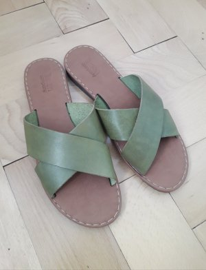limon company Sabots olive green leather