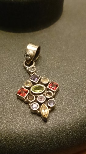 Silber&Edelstein Pendant multicolored metal