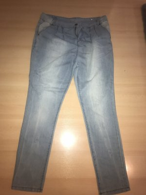 Crazyworld Biker jeans grijs-groen-lichtblauw