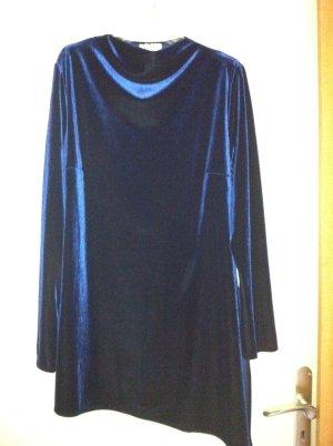 Anna Rita N Blouse longue bleu foncé tissu mixte