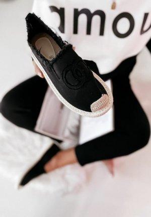 stylelistic Espadrille noir-marron clair