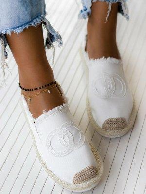 stylelistic Espadrille blanc-marron clair