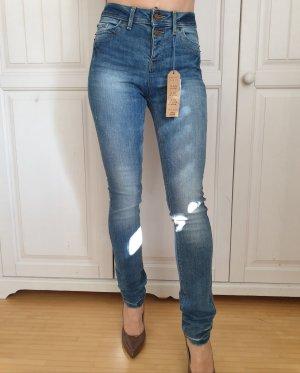 Neu Esprit W 26 L 32 High Waist Jeans Röhrenjeans Röhrenhose Hose Pants Karottenhose Plunderhose Bluse