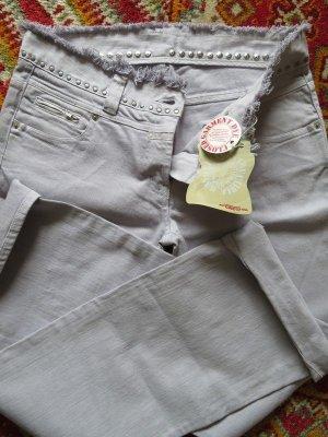 NEU + Etikett! CLOSED Jeans Hellblau Purple Ocean - Gr. 40 IT 46 - Faded Fransen Nieten Bund
