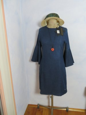 Neu+Etikett: Glücksstern Jeanskleid Blau - Größe S 36 - Denimkleid mit Tulpenärmeln