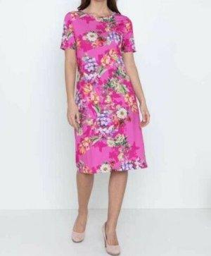 NEU Etuikleid mit Blumen Sommerkleid Strandkleid Urlaub Sommer Kleid 42 XL