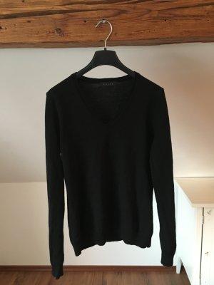 NEU Falke Pullover Pulli schwarz basic strick strickpulli vausschnitt