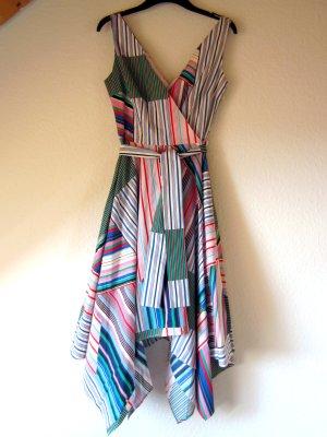 NEU: Farbenfrohes Zipfel-Kleid in Streifen-Patchwork-Optik