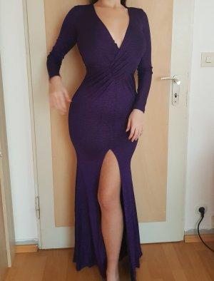 NEU Fashion Nova Abendkleid Maxikleid Kleid Violett Lila Purple Glitzer Größe XS