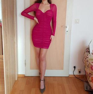 NEU Fashion Nova Kleid Minikleid Midikleid Magenta Pink XS