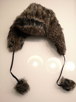 Pieces Fur Hat multicolored