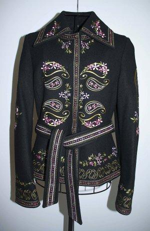 NEU festliche Jacke von Esprit aus Wolle Boho Ethno Look, schwarz Gr. XS