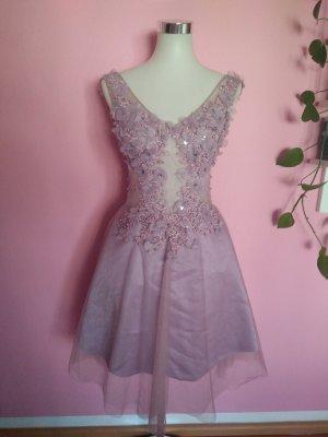 NEU, Festliches Kleid mit Spitze und Tüll für Abschluss/Abi/Hochzeit (BK)