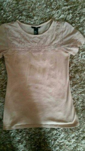 Neu! Festliches Shirt von H&M in Rosègold Gr.XS