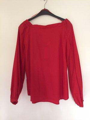 Mrs & HUGS Carmen blouse rood Katoen