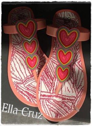 *Neu* Flip-Flops von Ella Cruz  mit Herz in Perlen