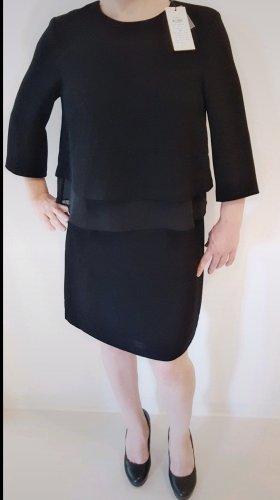 Selected Robe mi-longue noir