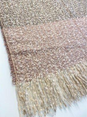 s. Oliver (QS designed) Bufanda de flecos marrón grisáceo-rosa empolvado