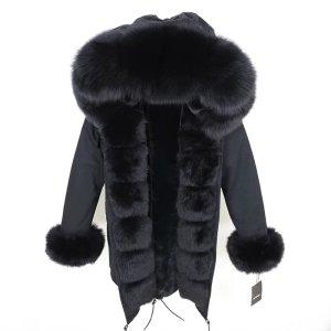 furreal fabrics Giacca di pelliccia nero Pelliccia