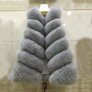 Graff Furs Chaleco de piel gris claro-gris Pelaje