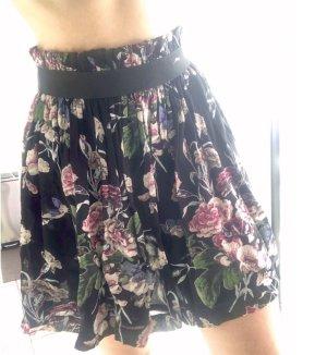 Neu! Ganni Damen Rock schwarz floral