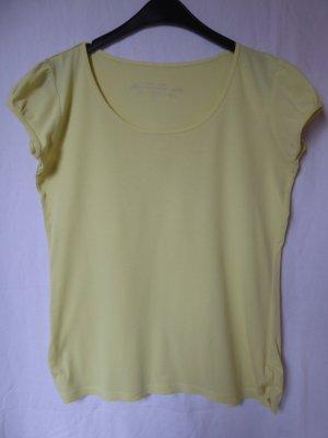 NEU: Gerafftes, hellgelbes T-Shirt von Orsay