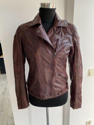 Gipsy Biker Jacket brown red-black