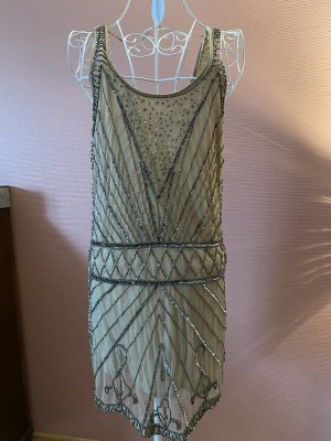Pull & Bear Sequin Dress nude-silver-colored