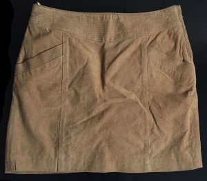 Mango casual Leather Skirt light brown leather