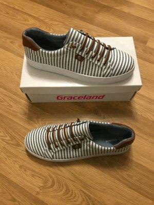 Graceland Slip-on Sneakers white-azure