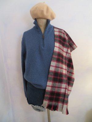 NEU! Grau Blau Rot Kariert 100% Wollschal Scottish Tartan Scarf Macpherson