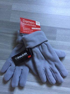 Fleece Gloves light grey