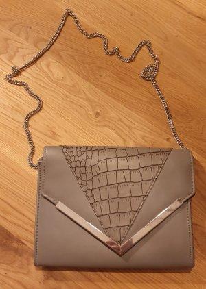 NEU - graue / silbere kleine Tasche - ideal für Partys