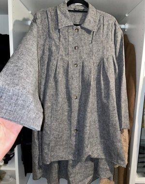 NEU! Graues dünnes Kleid Freizeitkleid mit Knöpfen