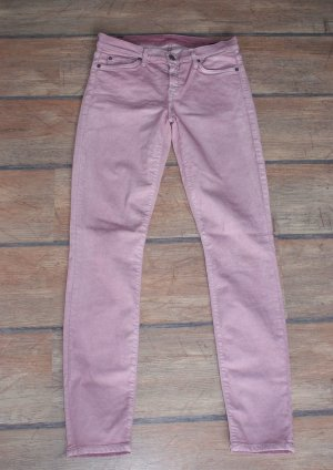 7 For All Mankind Jeans skinny vieux rose-mauve coton