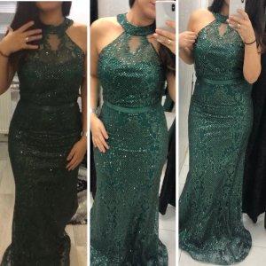 Evening Dress dark green-green