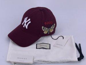 Gucci Gorra de béisbol burdeos