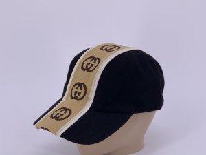Gucci Gorra de béisbol negro-marrón claro