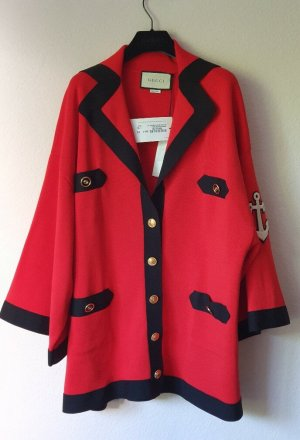 Gucci Knitted Cardigan black-red