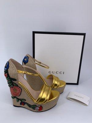 Neu Gucci Damen Leder Sandalen Pumps Gr-39,5