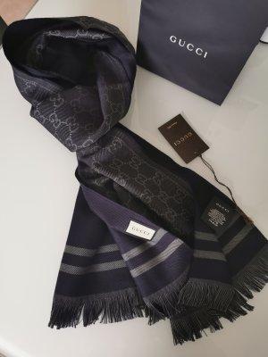 Gucci Bufanda de lana azul oscuro