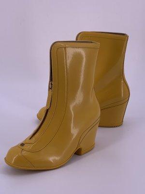 Gucci Botte en caoutchouc jaune
