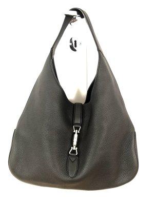 Gucci Sac hobo noir-argenté cuir