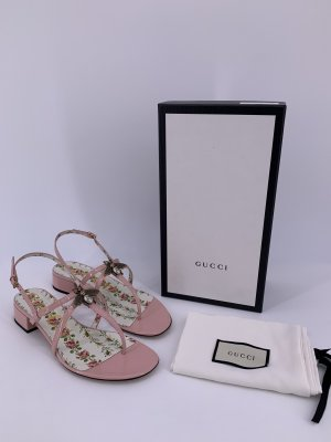 Neu Gucci Sandalen Lackleder Große -39