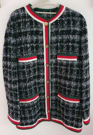 Gucci Tweed blazer zwart-grijs