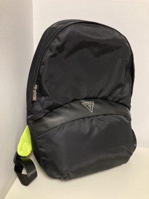 Guess Plecak na notebooka czarny-zielona łąka Poliester