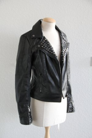 Guess Biker Jacket black imitation leather