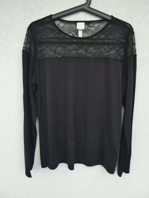 NEU – H&M – Damen Shirt, schwarz mit Spitze