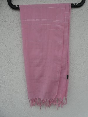H&M Divided Fringed Scarf pink