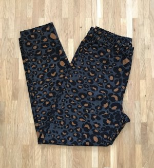 NEU H&M Jogger Hose XS 34 Leopard Print Slacks Chino Leo Sommerhose Pants Camo